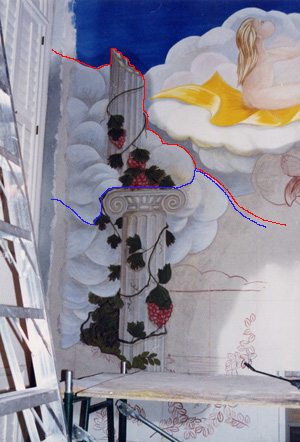 Albuquerque Fresco - Column Giornata as just painted